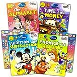 Disney Workbooks 幼儿园*级 -- 4 本带*励贴纸(Disney 字母书写、阅读、添加、减等等)