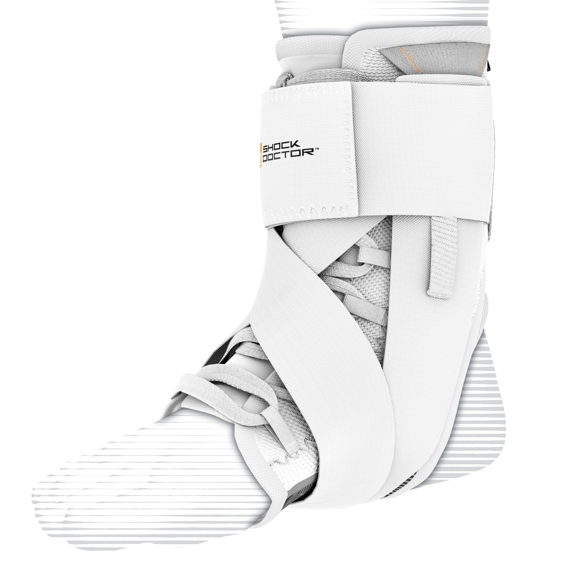 Shock Doctor 851 Ultra Wrap Laced Ankle Brace, White, Medium by Shock Doctor