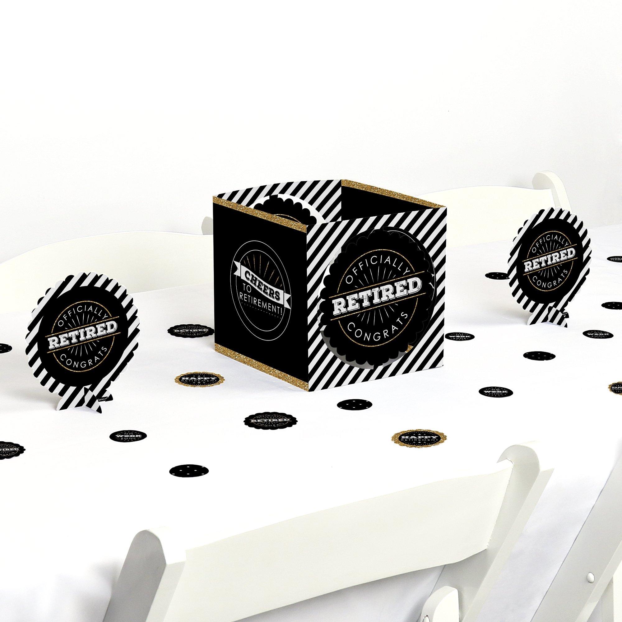 Big Dot of Happiness Happy Retirement - Retirement Party Centerpiece & Table Decoration Kit