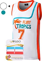 2c35057ba22e AFLGO Coffee Black  7 Flint Tropics Basketball Jersey Semi Pro S-XXXL White  –
