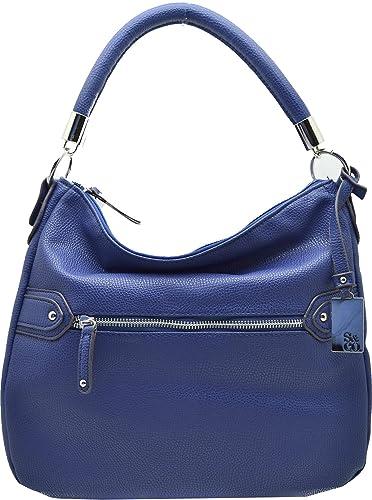 1668b609587b Style   Co. Women s Handbag Slouchy ZIP Hobo Pebble Bag (Navy ...
