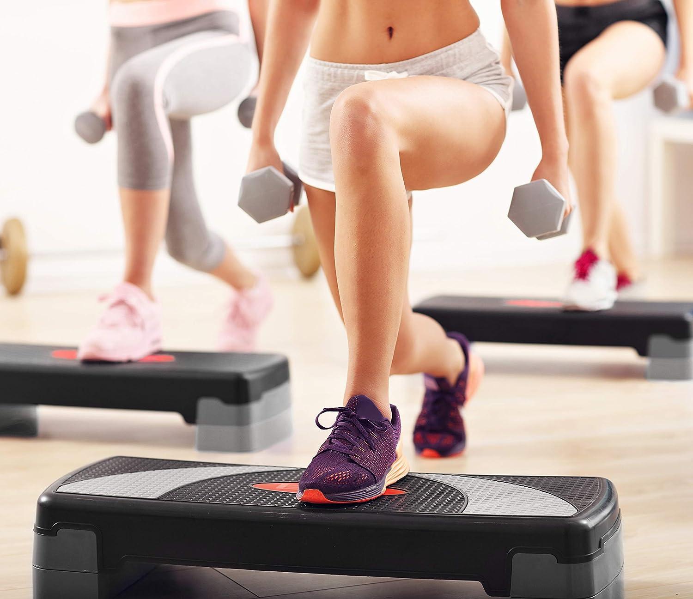 POWRX Step fitness/aeróbic escalón XL (80 x 30 cm) - Stepper ideal ...