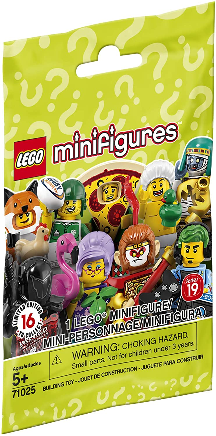Rugby Player LEGO Collectible Minifigures Series 19-71025