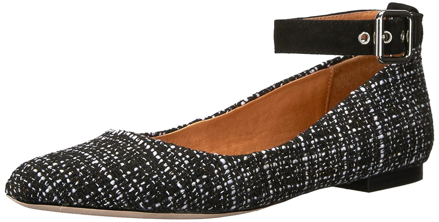 Opportunity Shoes - Corso Como Women's Ramona Ballet Flat B06W2P2MV1 7.5 B(M) US|Black/White Tweed