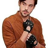 【GSG】ドライビンググローブ レザー 手袋 メンズ 指なし バイク グローブ 指ぬき ロック 運転 ドライブ グローブ 肉厚パッド 男性用 161078【セール中】