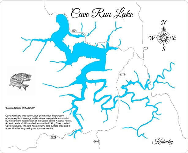 Amazon.com: Cave Run Lake, Kentucky: Standout Wood Map Wall ... on cave run fishing, cave run camping, dale hollow reservoir map, cumberland river map, cave lake fishing, cave lake ky, red river gorge climbing map, the land between lakes map, cave run zilpo, cave run marina, cave run multiplication, daniel boone forest map, ohio river map, cumberland falls map, united states map,