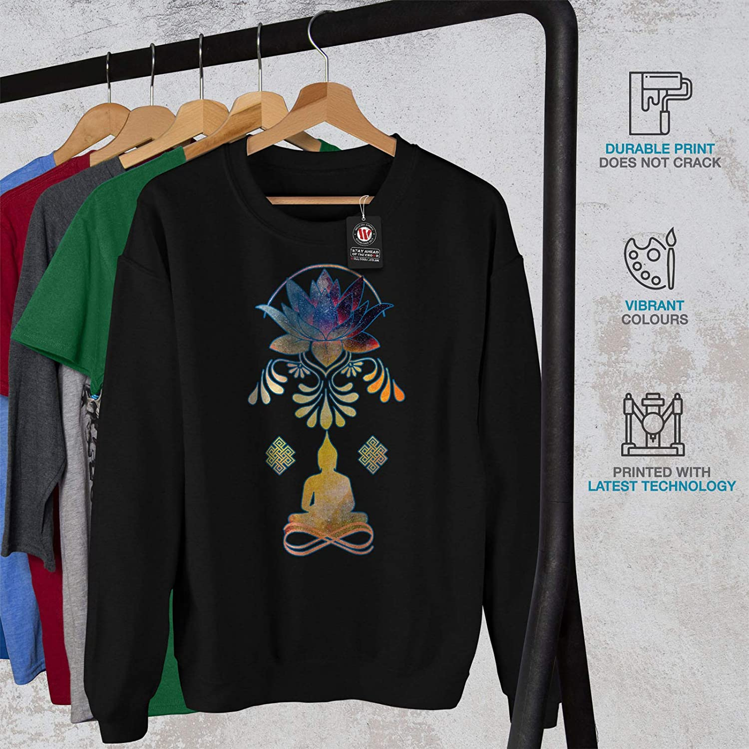Budha Infinity Casual Jumper wellcoda Indian Yoga Mens Sweatshirt