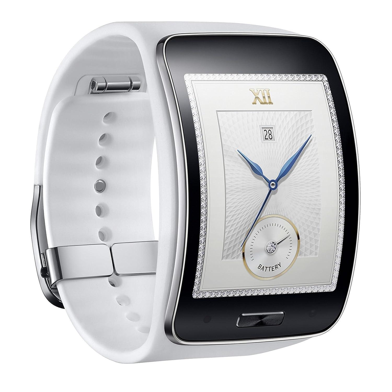 Samsung Galaxy Gear S R750W Smart Watch w/Curved Super AMOLED Display (White)