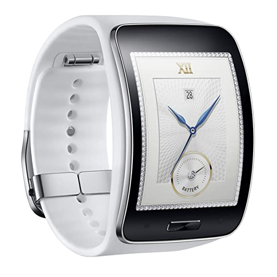 31e612f0769 Image Unavailable. Image not available for. Color  Samsung Galaxy Gear S  R750W Smart Watch w Curved Super AMOLED ...