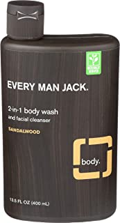 product image for Every Man Jack Body and Face Wash, Sandalwood, 13.5 Fluid Ounce