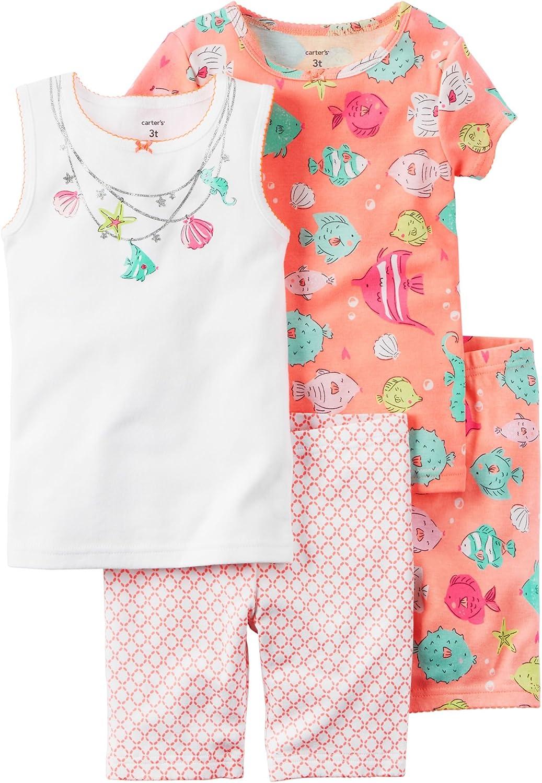Carter S Pijamas De Algodón Para Niña 4 Piezas 8 Clothing