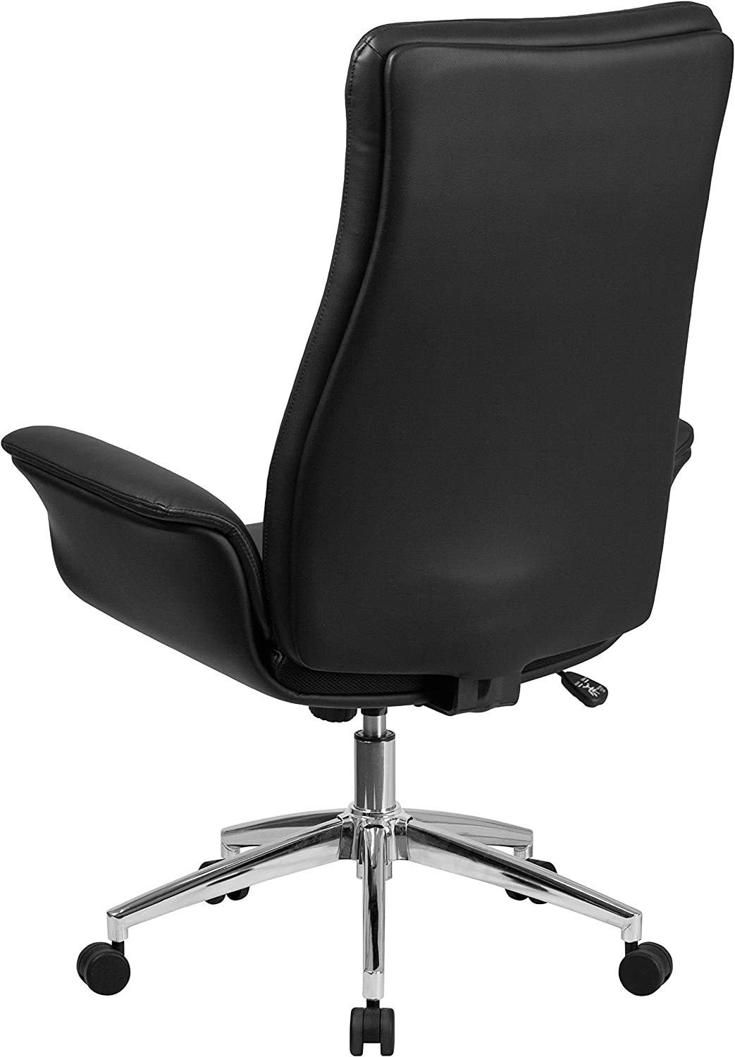 Flash Furniture High Back White Leather Executive Swivel Office Chair with Flared Arms