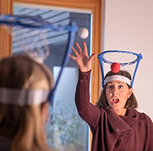 FUN delivery bask HEAD ball Foam Basketball Game for indoors, pool, tailgate, classroom (set of 2),