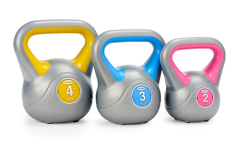 York Fitness - Juego de 3 pesas rusas (2, 3 y 4 kg): Amazon.es: Deportes y aire libre