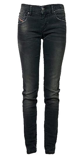 584967f2 Diesel Womens Stretch Jeans Getlegg 0607Z Slim Skinny Grey Used Look:  Amazon.co.uk: Clothing