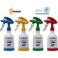 4 Kwazar Mercury Super PRO+ 360 Grad VITON Sprühflasche 0,5 Liter in 4 Farben inkl. Deutscher Anleitung und Pflegehinweise von detailmate