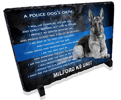 Redeye Laserworks Personalized Police Dog K9 Prayer Stone Plaque from