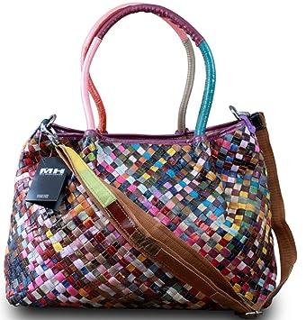 Caige Sacs à main d'épaule Grandes Femmes pratiques en cuir véritable fourre-tout Satchel (multicolore) LIK5aGSft