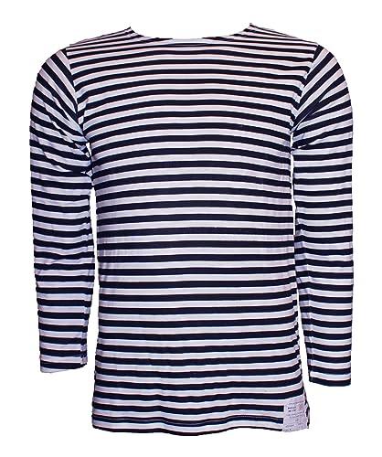 Camiseta a rayas- Telnyashka- Marina Rusa- Azul Marino