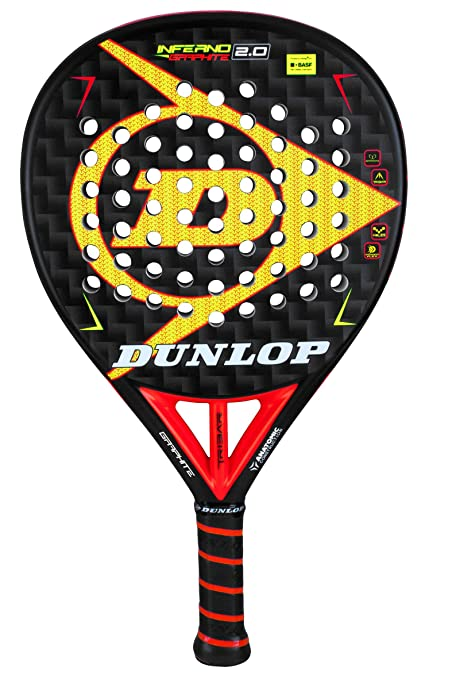Amazon.com: Dunlop Inferno Graphite 2.0 Pop - Pala de pádel ...