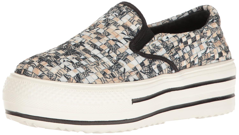 Bernie Mev Women's High Vee Fashion Sneaker B01N6KROIE 39 EU/8-8.5 M US|Straw