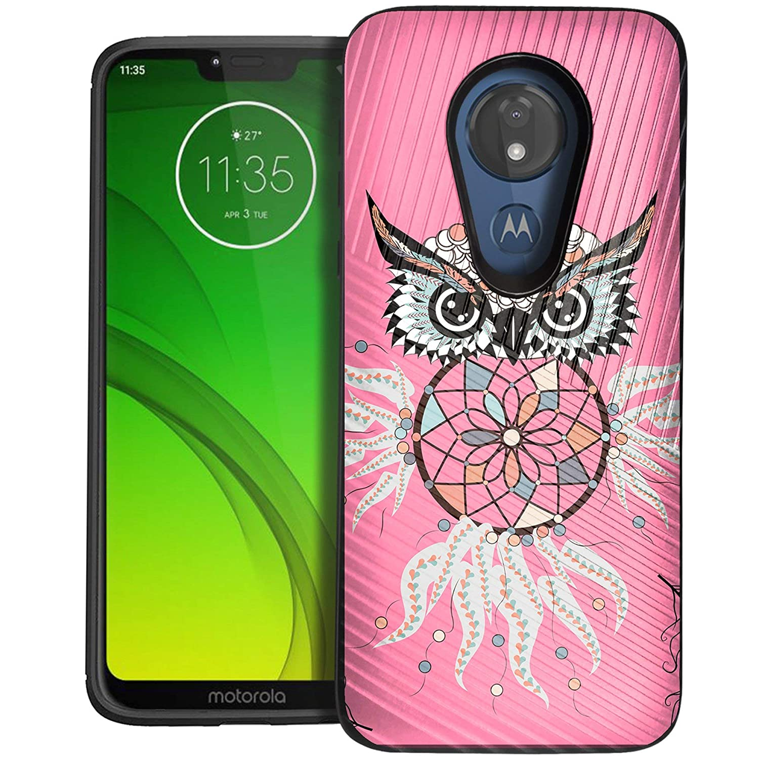 CasesOnDeck Case Compatible with [Motorola Moto G7 Power | Motorola Moto G7  Supra] Moto G Power 7th Gen Case, Dual Layer Hybrid Combat Shock Shell