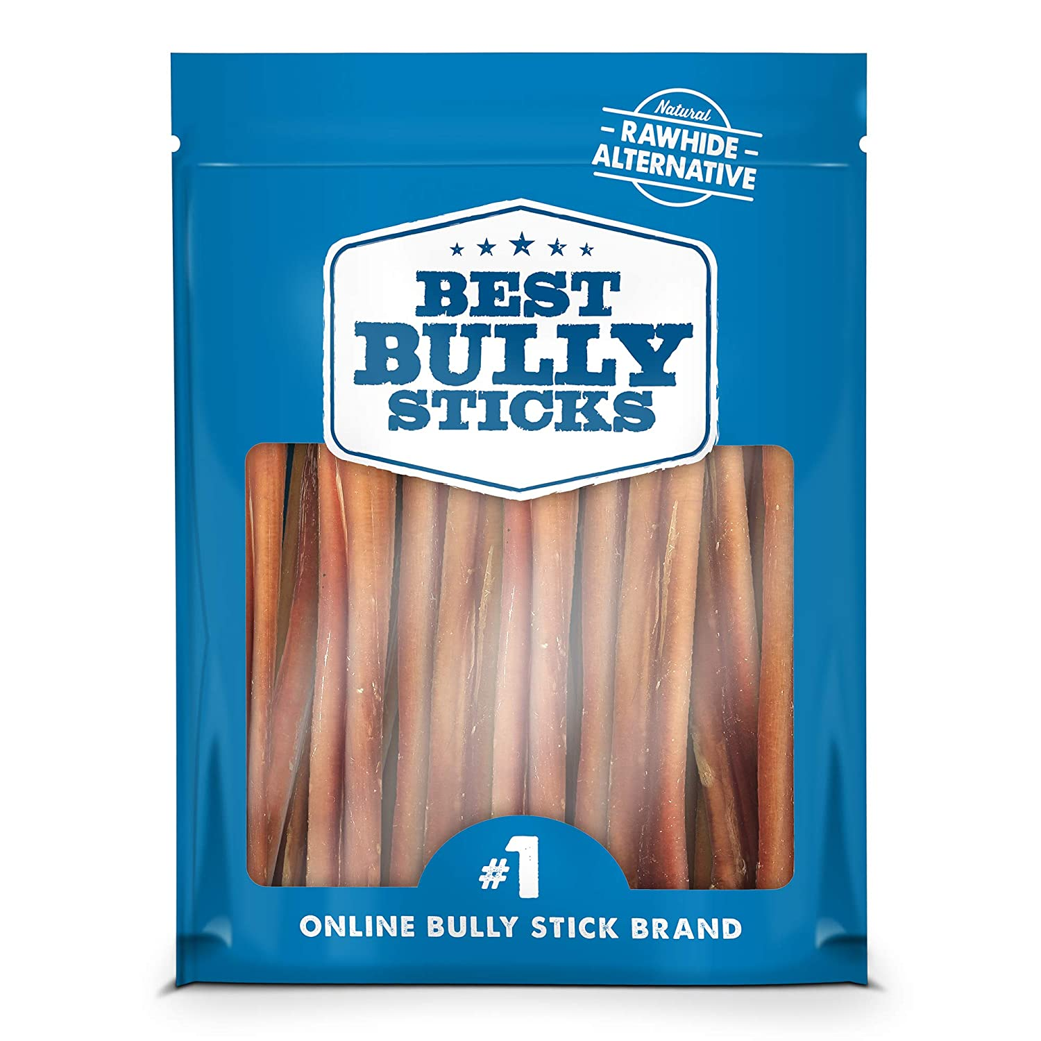 Best Bully Sticks Odor-Free Angus Bully Sticks – Made of All-Natural, Free-Range, Grass-Fed Angus Beef – Hand-Inspected and USDA FDA-Approved