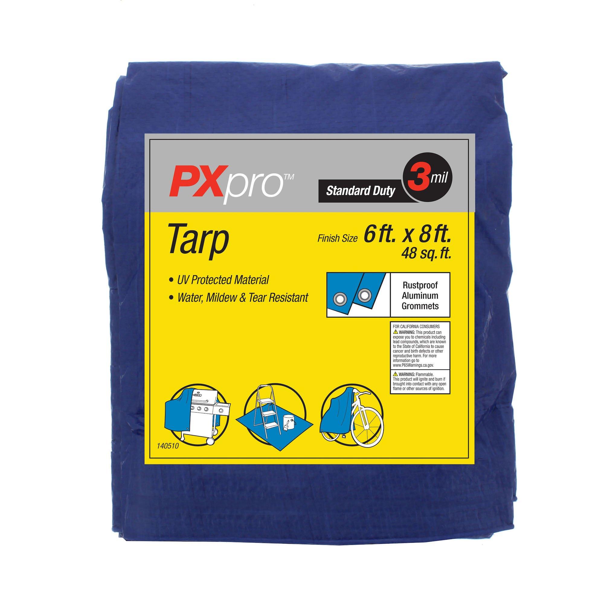 PXpro Standard Duty Tarp 6'X8'