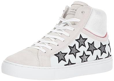 4d068c47e Skecher Street Women's Side Street-Glitter Star High Top Fashion  Sneaker,White,5.5