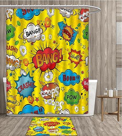 Amazon Com Sunsunshine Superhero Shower Curtain 3d Digital