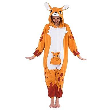 Amazon.com  Spooktacular Creations Unisex Adult Pajama Plush Onesie  Kigurumi One Piece Kangaroo Animal Costume  Clothing 5e5e82891