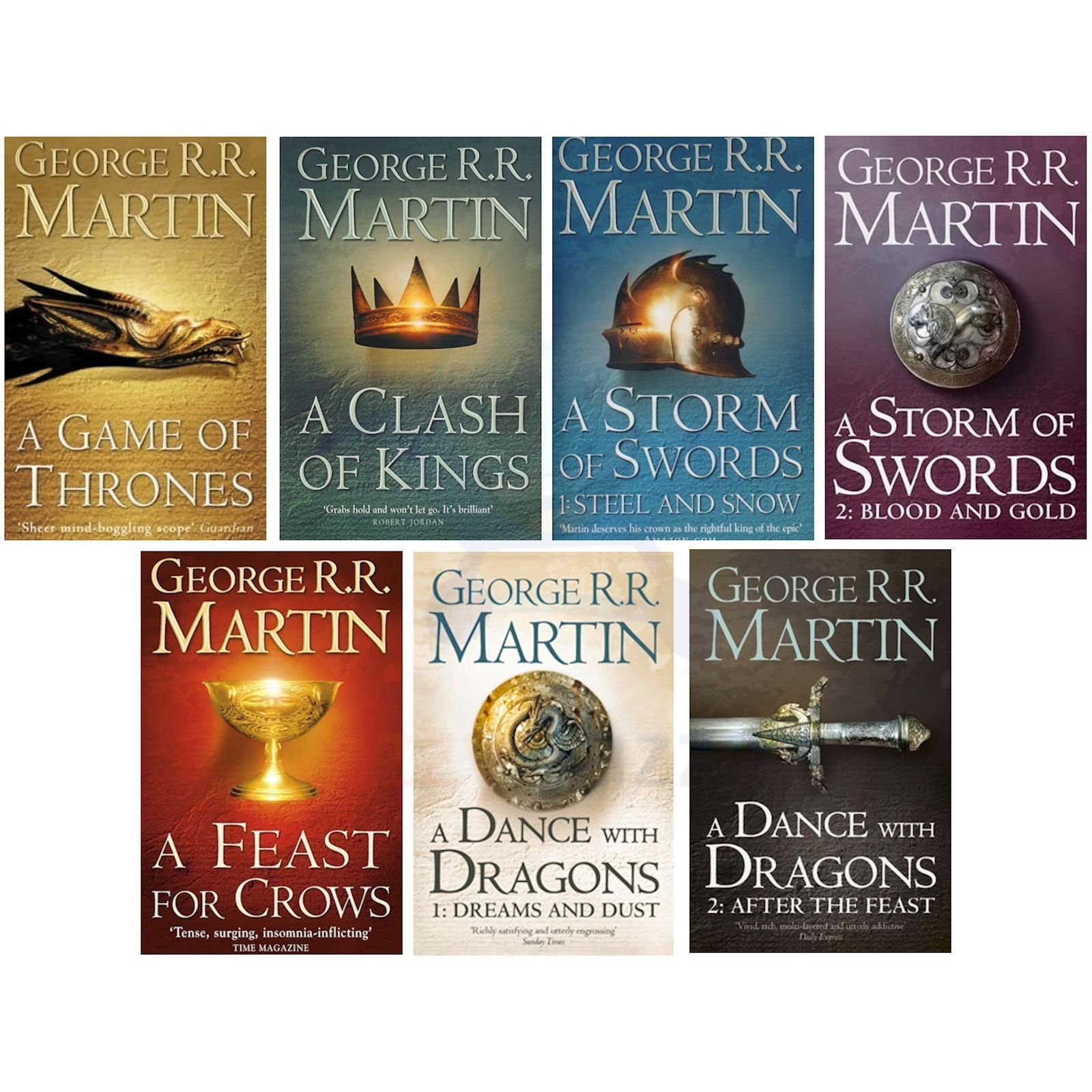 A Game Of Thrones 7 Volume Book Box Set Song Of Ice And Fire George R R Martin | eBay