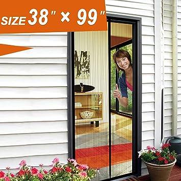 Magnetic Screen Door Mosquito Door Mesh 38 X 99 Fit Doors Size Up to 36