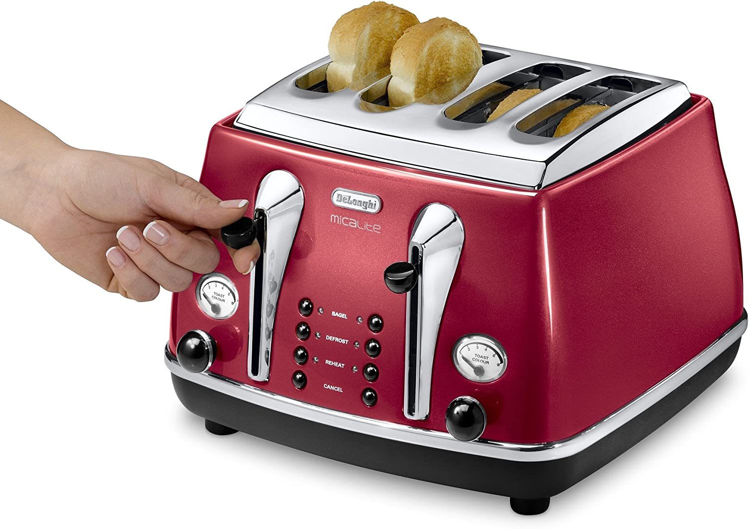 Delonghi Vintage Icona Red 4 Slice Toaster