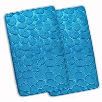 WohnDirect Badematte London Rutschfest Waschbar Schnelltrocknend Microfaser Duschvorleger Badteppich 50x80cm