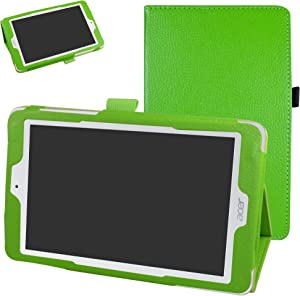 """Acer Iconia One 8 B1-850 Case,Mama Mouth PU Leather Folio 2-Folding Stand Cover with Stylus Holder for 8"""" Acer Iconia One 8 B1-850 Android Tablet,Green"""