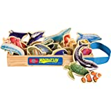 T.S. Shure Sea Creatures Wooden Magnets 20 Piece MagnaFun Set