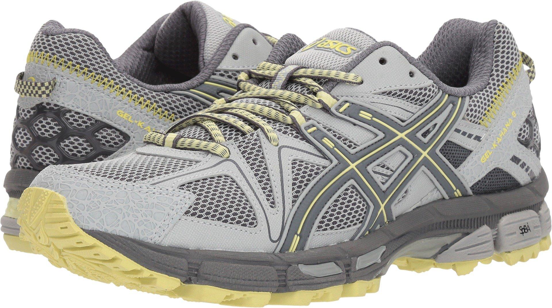 ASICS Gel-Kahana 8 Trail Running Shoes - Women's, Mid Grey/Carbon/Limelight, Medium, T6L5N.9697-10 by ASICS