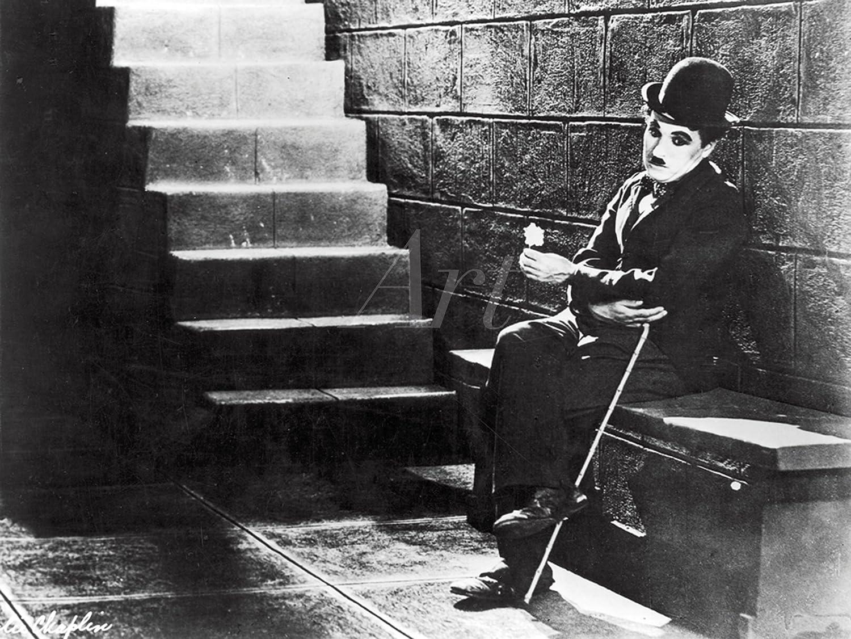 Artland Qualitätsbilder I I I Bild auf Leinwand Leinwandbilder Wandbilder 80 x 60 cm Film TV Stars Foto Schwarz Weiß B9JV Charlie Chaplin Lichter der Großstadt 1931 4f7c14