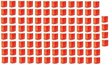 100 unidades de cartón plegable portátil asiento sillas color ...