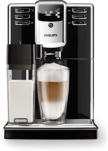 Caraffa Latte Integrata Philips Macchine da caff/è Automatiche Serie 5000 EP5365//10 Macchina Automatica da caff/è Filtro AquaClean Silver con Macine in Ceramica