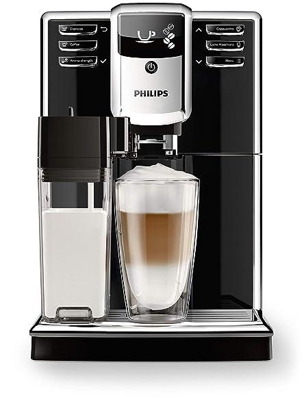 Philips Serie 5000 EP5360/10 - Cafetera Súper Automática, 6 Bebidas de Café, Jarra de Leche Integrada, Limpieza Automática, Molinillo Ceramico