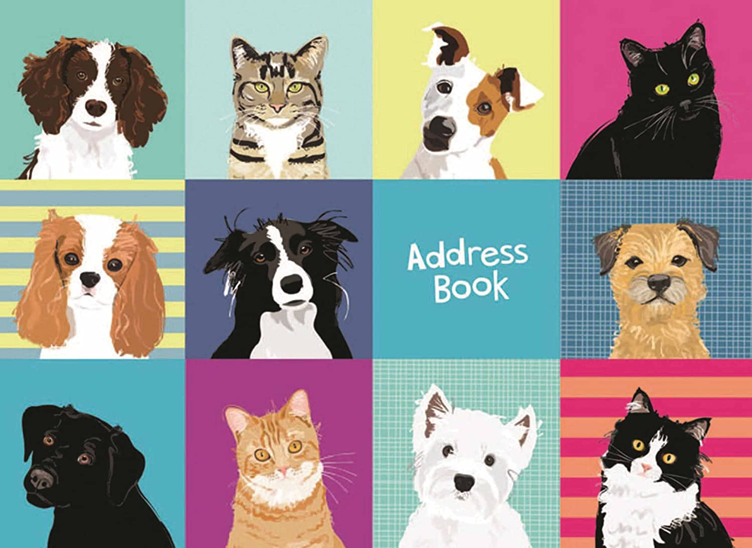 Waggy Tails - Landscape Desk Address Book Otter House Limited
