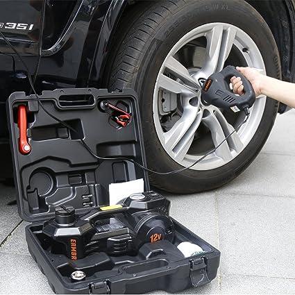 Amazon Com 12v Dc 1 Ton Electric Hydraulic Floor Jack Set For Car