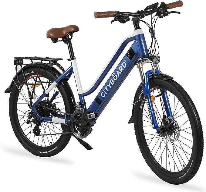 Cityboard E- City Bicicleta Eléctrica, Unisex Adulto, Azul/Blanco ...