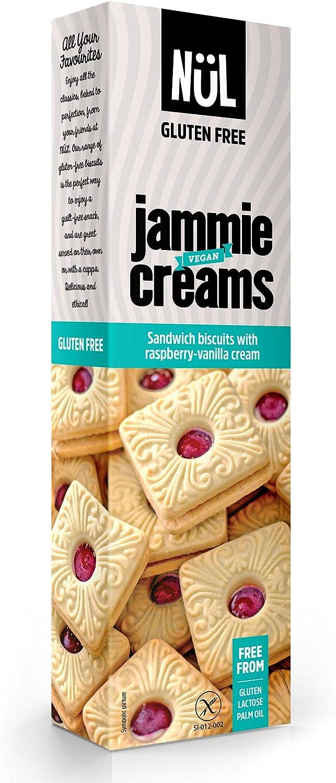 Galletas sin gluten rellenas de frambuesa y vainilla NÜL (12 paquetes)