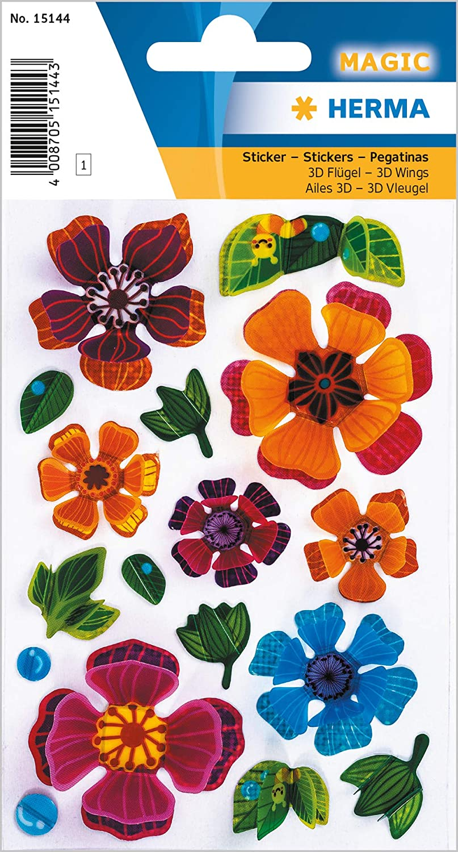 3D Flgel HERMA Sticker MAGIC Schmetterlinge