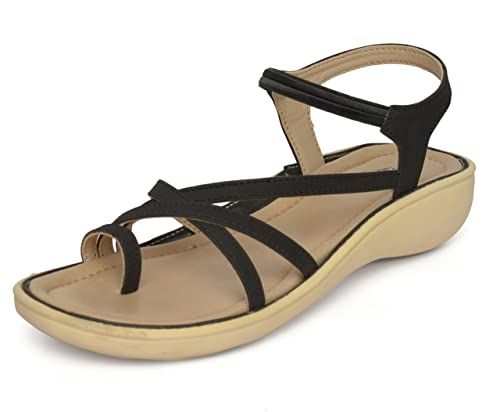 965b4b8bc83b RE-POSE Women Low Heel Leather Sandal  Buy Online at Low Prices in India -  Amazon.in