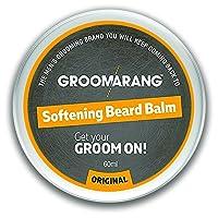 Groomarang Premium - Balsamo ammorbidente, per barba, baffi e pizzetto, 60 ml, promuove la sana crescita della barba, 100% naturale, biologico e vegano