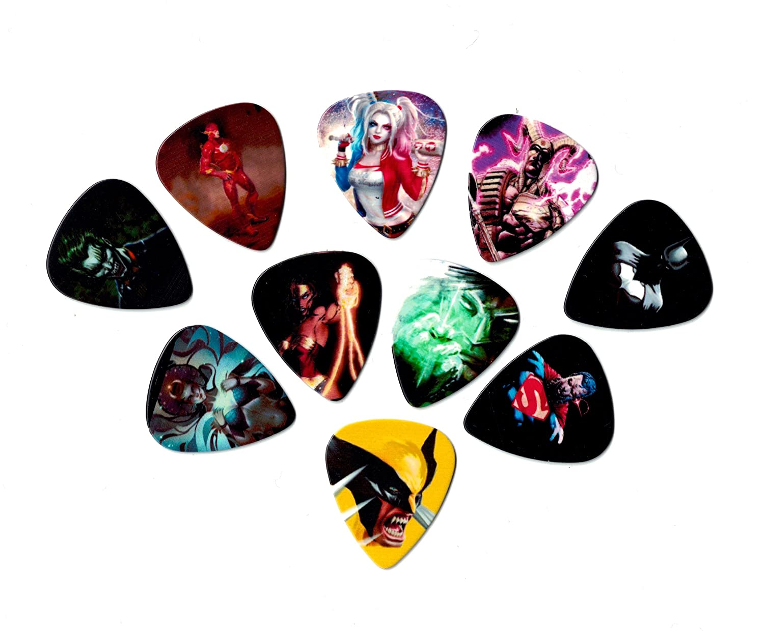 Amazon.com: Searay DC Comics guitar picks (10 medium picks in a ...